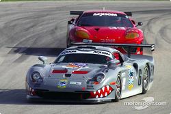 #6 Gunnar Racing Porsche GT1: Gunnar Jeannette and #33 Scuderia Ferrari of Washington Ferrari 360GT: Cort Wagner, Brent Martini