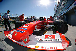 Wide angle view of the Ferrari