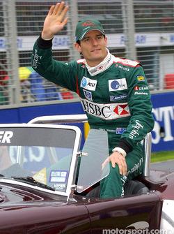 Drivers' parade: local hero Mark Webber
