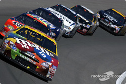 Elliott Sadler leads Jeff Gordon