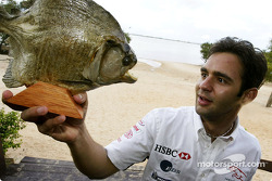Antonio Pizzonia re-visits his home town and comes face to face with a Pirahna fish in Manaus