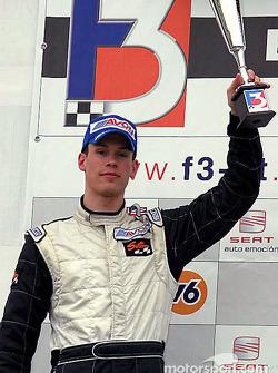 Race winner Alan van der Merwe