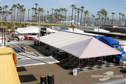 Trans-Am cars paddock area