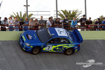 Petter Solberg on the velodrome