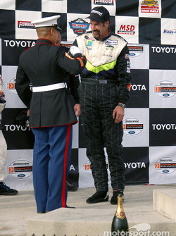 The podium: race winner Boris Said