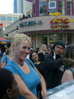 Party in downtown Long Beach