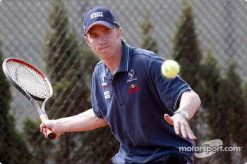 Charity tennis tournament at the Sanchez-Casal Academy in Barcelona: Nick Heidfeld