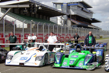 #6 Champion Racing Audi R8 and #18 Pescarolo Sport Courage C60-Peugeot