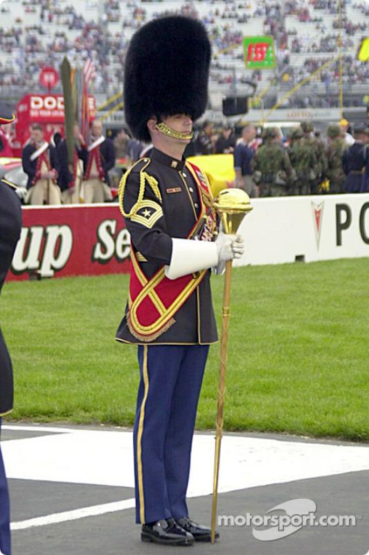 The Marine's drum major