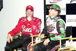 Dale Earnhardt Jr. and Bobby Labonte in the post-race interview