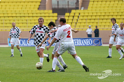 Football match at Stade Louis II in Monaco: Prince Albert