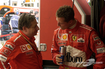 Rubens Barrichello and Jean Todt