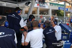 Pole winner Ralf Schumacher celebrates