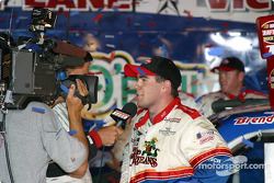 Race winner Brendan Gaughan on victory lane