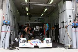 #6 Champion Racing Audi pit area