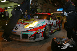 Pitstop for #93 Alex Job Racing Porsche 911 GT3-RS: Lucas Luhr, Sascha Maassen, Emmanuel Collard