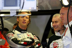 Jenson Button and Geoff Willis