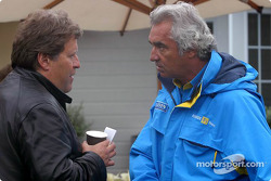 Nobert Haug and Flavio Briatore