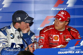 Press conference: race winner Michael Schumacher and Ralf Schumacher