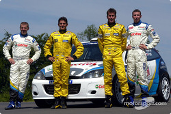 Jordan Grand Prix Giancarlo Fisichella and Ralph Firman with Ford WRC Michael Park and Markko Martin