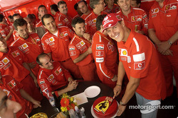 Michael Schumacher celebrates 1000 points in F1