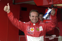 Pole winner Rubens Barrichello