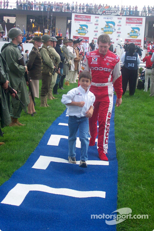 Bill Elliott and son