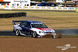 Glenn Seton heads towards the gravel trap during practice