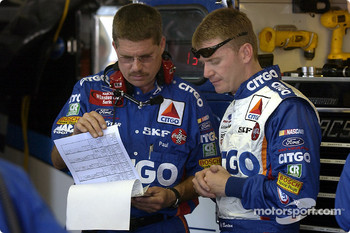 Jeff Burton and crew chief Paul Andrews