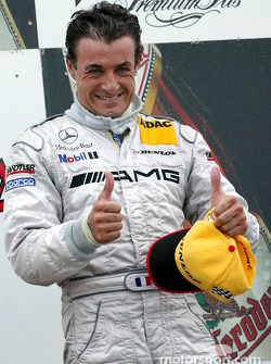 The podium: race winner Jean Alesi