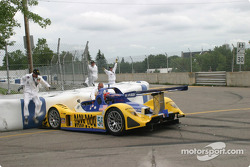 #56 Team Bucknum Racing Pilbeam MP91 / Willman 6: Jeff Bucknum, Bryan Willman, Chris McMurry in the wall
