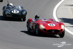 #8 1957 Maserati 450S driven by Bruce McCaw and #12 1954 Jaguar D-Type