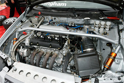 The engine bay of Peter Cunningham's Nissan Sentra SE-R