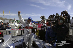 Marco Werner celebrates victory