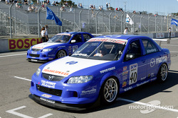 Mazda's on the front row of the Speed Touring Car grid