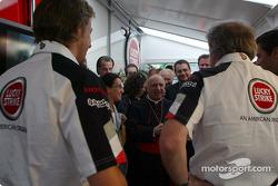 Jenson Button and David Richard with Cardinale Tettamanzi