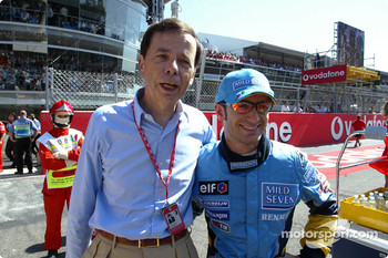 Renault chairman Louis Schweitzer and Jarno Trulli