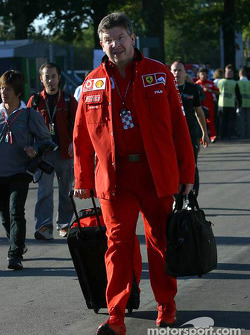 Ross Brawn enters the paddock