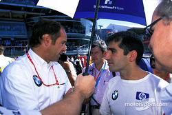 Gerhard Berger and Marc Gene on the starting grid