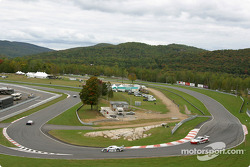 Race action at Namerow hairpin