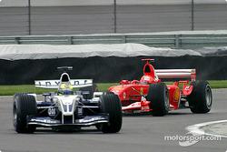Ralf Schumacher and Michael Schumacher
