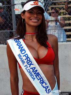 A lovely Grand Prix Americas grid girl