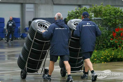 Williams-BMW team members