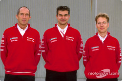 Toyota photo shoot: Race Engineers Humphrey Corbett, Dieter Gass, Ossi Oikarinen