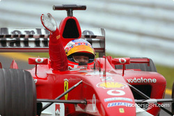 Race winner Rubens Barrichello