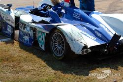 Damage on the #20 Dyson Racing Team Lola EX257/AER