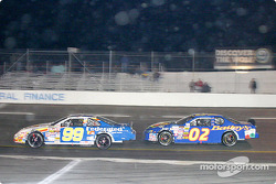 Ken Schrader and Hermie Sadler finished first and second