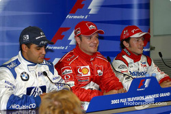 Saturday press conference: Juan Pablo Montoya, Rubens Barrichello and Cristiano da Matta