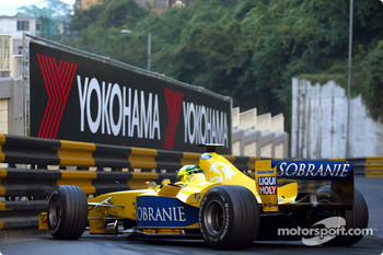 Ralph Firman gets caught on the tight Macau circuit