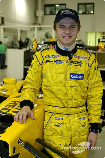 Jaroslav Janis poses with the Jordan EJ13